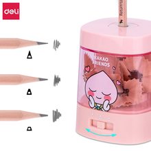Deli Electric Pencil Sharpener Student Auto Sharping Tools With Large-Capacity Crumb Box Office Pencil Stationery Accessories