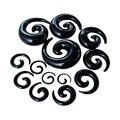 Эспандер для ушей для мужчин и женщин, ювелирное изделие для пирсинга, Черная форма улитки, гипоаллергенные затычки для ушей, инструмент для...