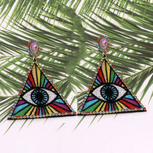 Женские серьги с разноцветными кристаллами oorbellen новые модные