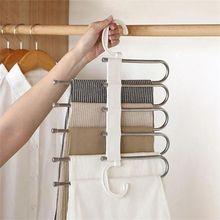 Organizer Hanger Drying-Racks Scarf Storage Multi-Functional-Pants Space