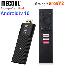 ТВ-приставка Mecool KD1 Amlogic S905Y2 Android 10 2 Гб 16 Гб Поддержка Google Certified Voice 1080P 4K 2,4G & 5G Wifi BT TV Dongle