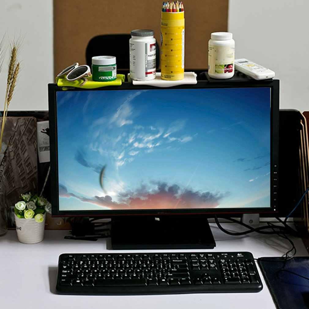شاشة الرف العلوي عرض الرف شاشة الكمبيوتر الناهض حامل سطح العمل التلفزيون الرف تخزين مكتب متعدد الوظائف تخزين الرف ABS