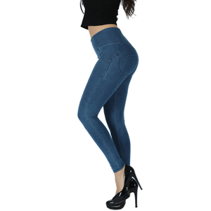 Image 3 - Melody High Rise Sexy Push Up Jeggings Dark Blue Zipper Fly Super comfortable Pencil Leggings For Women Plus Size Leggings mujer