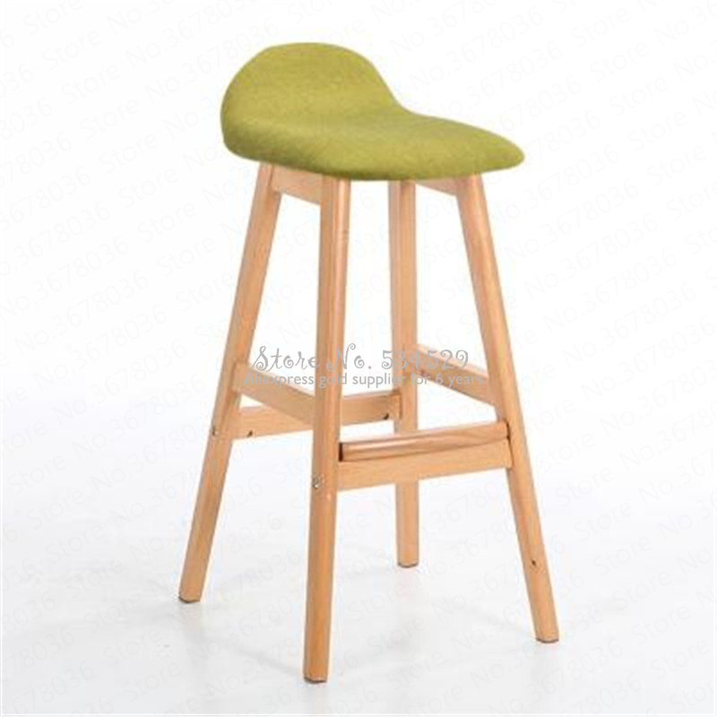 21%Modern Design Bar Chair Solid Wooden Bar Chair Northern Wind Fashion Creative Kitchen Room Nordic Counter Stool