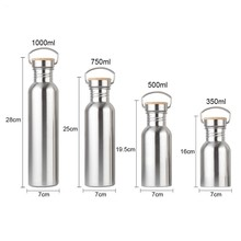 4 Size Stainless Steel Double Wall Vacuum Jug Insulated Water Bottles Coffee Kettle Travel Drink Vacuum Flasks 350-1000ml yoryu 1000ml page 4