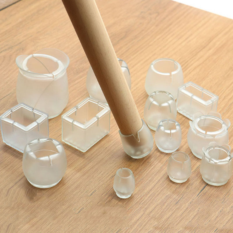 8/16Pcs/Lot Table Chair Leg Mat Silicone Non-slip Table Chair Leg Caps Foot Protection Bottom Cover