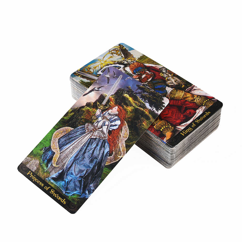 Tarot Illuminati Kit karty Oracles talia karta i elektroniczny przewodnik Tarot gra zabawka Tarot wróżbiarstwo e-przewodnik książka