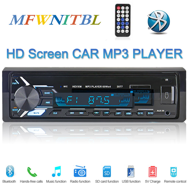 AUX Input Remote Control SD MP5 Player with Rear View Camera FM Radio Receiver Fast Charging Car Stereo Single Din Multimedia Car Radio 4.1 Touch Screen Bluetooth Audio Hands-Free Calling USB
