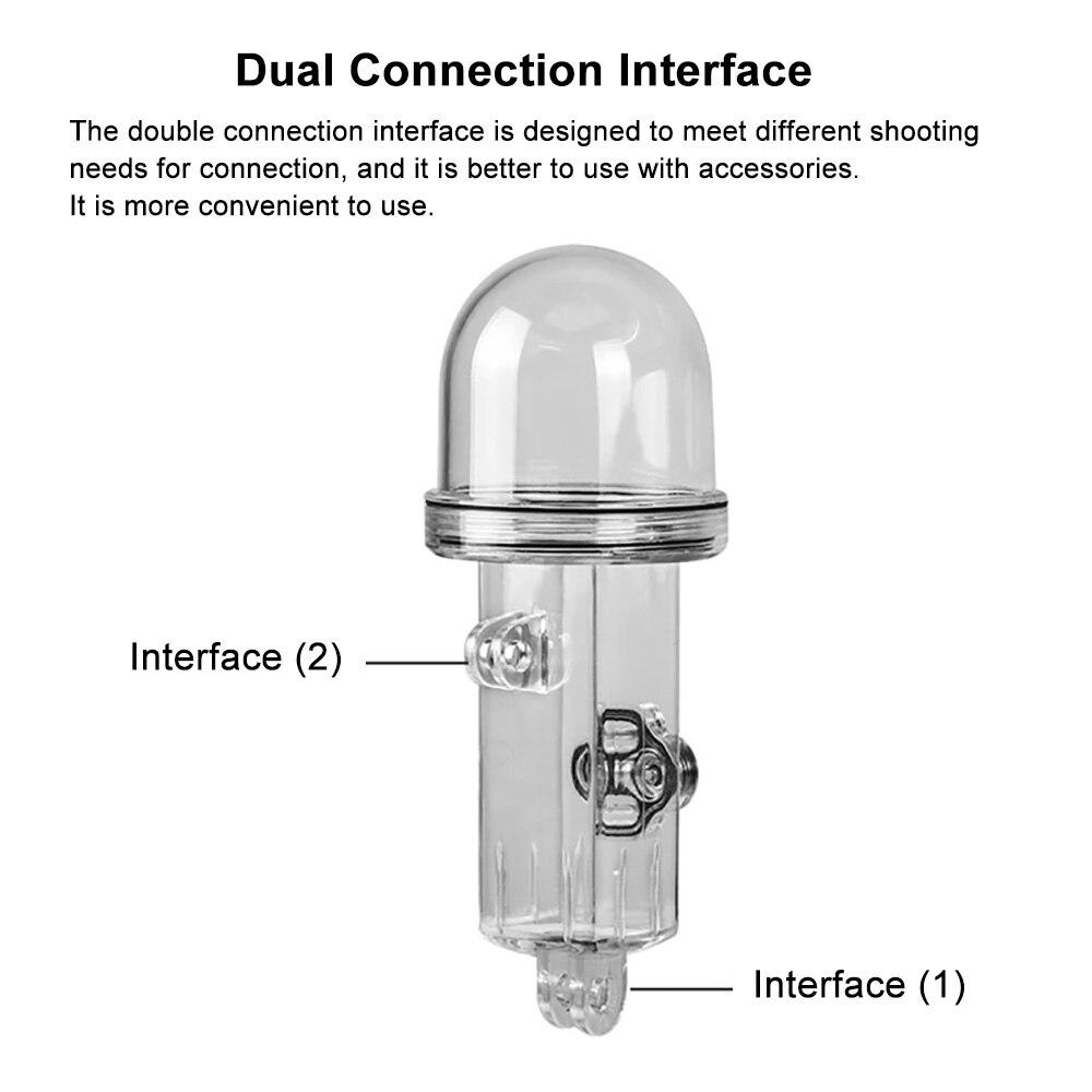 PULUZ 61m Onderwater Waterdichte Behuizing Duiken Case Cover voor DJI Osmo Pocket - 3