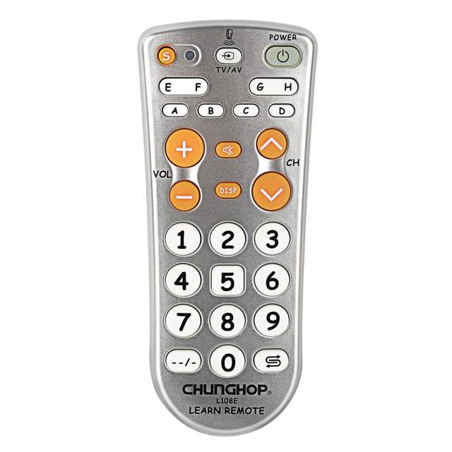 1 sztuk kombinowany uniwersalny kontroler do nauki zdalne sterowanie Chunghop L108E dla TV/SAT/DVD/CBL/DVB T/AUX duży przycisk kopiowania