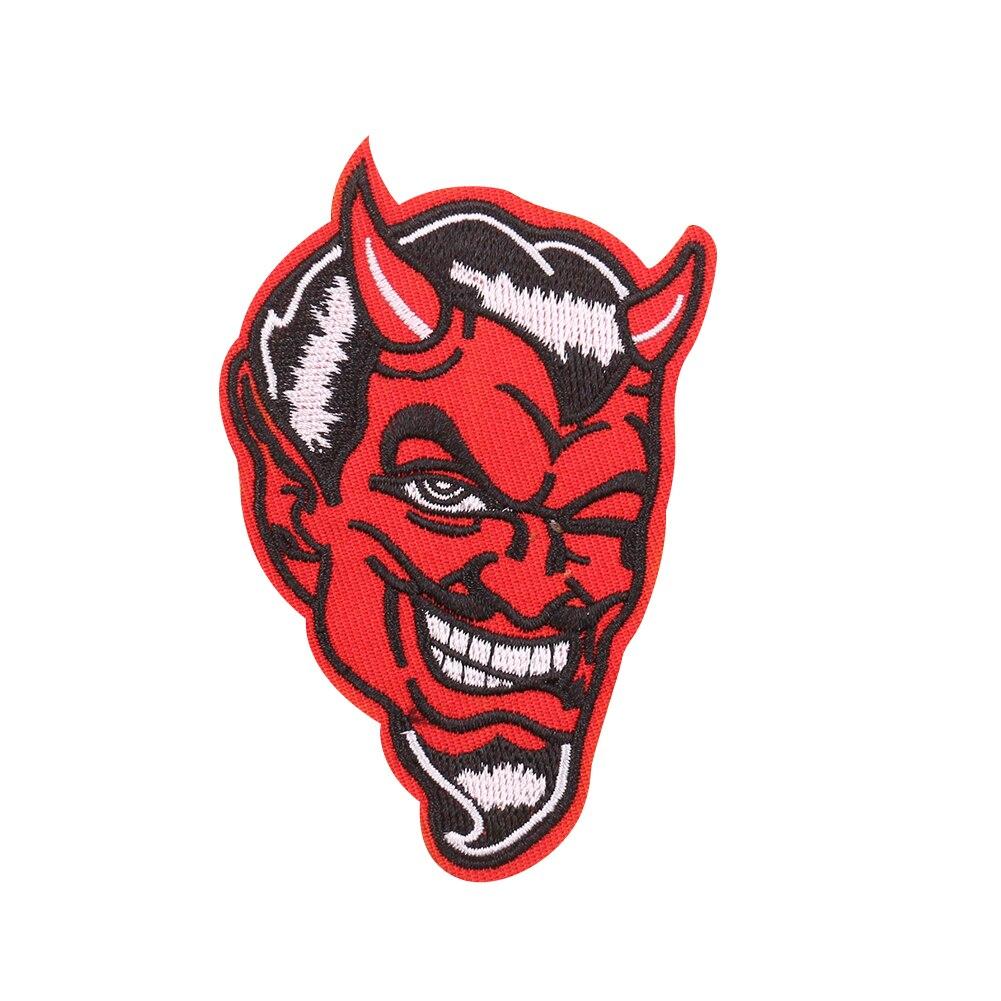 5 pçs estilo punk dos desenhos animados demônio remendos de ferro no bordado apliques para vestuário emblemas remendos diy acessórios de vestuário venda quente