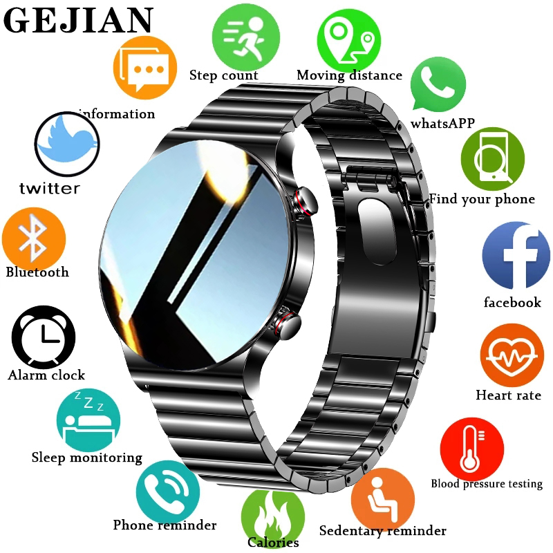 Permalink to GEJIAN Smart Watch Men IP68 Waterproof Luxury smartwatch Mens Bluetooth Call For Android ios phone Music Player Fitness Tracker