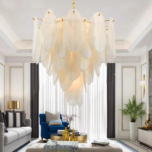 Artpad итальянский дизайн, ручная работа, стеклянные кристаллы, подвесные светильники, роскошный золотой лист, форма, Luminaria, Подвесная лампа дл...
