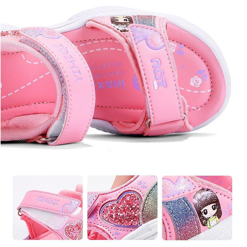 peso brilhante impressao bebe meninas sapatos confortaveis verao criancas sandalia 02