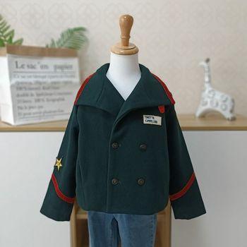 Kids girl boy overcoat Winter new fashion wool coat for children Teens autumn jacket warm long outerwear Children Windproof