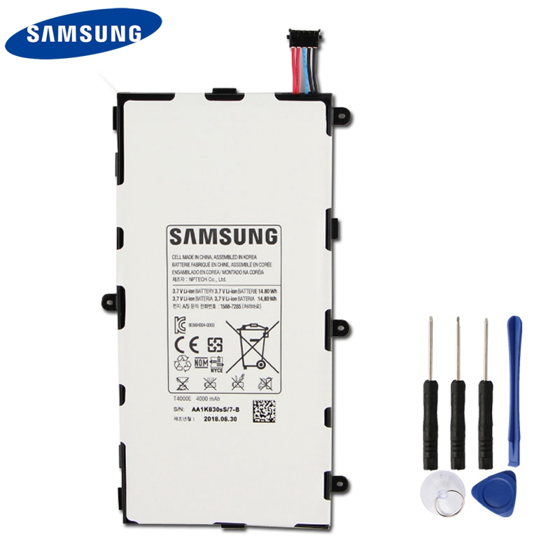 Original Samsung Battery <font><b>T4000E</b></font> For Samsung GALAXY Tab3 7.0 T210 T211 T2105 T217a T4000C T4000U Tablet Battery 4000mAh image