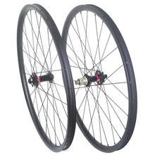 29ER ruedas de carbono de refuerzo, de 27MM, 30MM, 35MM, 37MM de ancho, 650B, juego de ruedas de carbono sin cámara, buje delantero de 110MM, buje trasero de 148MM