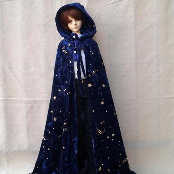 BJD Wizard Cloak Coat Outfits Top Clothing Blue For 1/4 1/3 24 60cm 70cm Tall Male BJD doll SD MSD SD17 DK DZ AOD DD Doll use [wamami] 701 3pc blue flower clothes dress suit 1 6 sd dz bjd dollfie