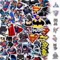 50 шт./упак. с героями комиксов Марвел, Супермен Бэтмен Автомобиль для телефона на мотоцикл путешествия Чемодан Тележка Ноутбук Стикеры игру...