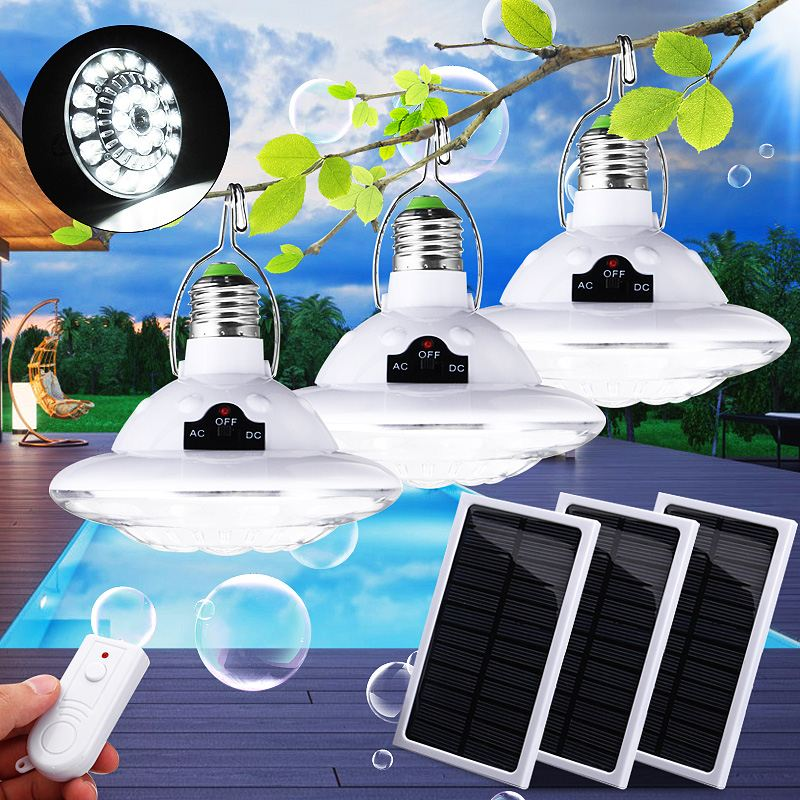 1/2Piece Solar Power LED Lantern With Solar Panel & Remote Control 22LED Tent Camping Bulb For Hiking Fishing Emergency Lights