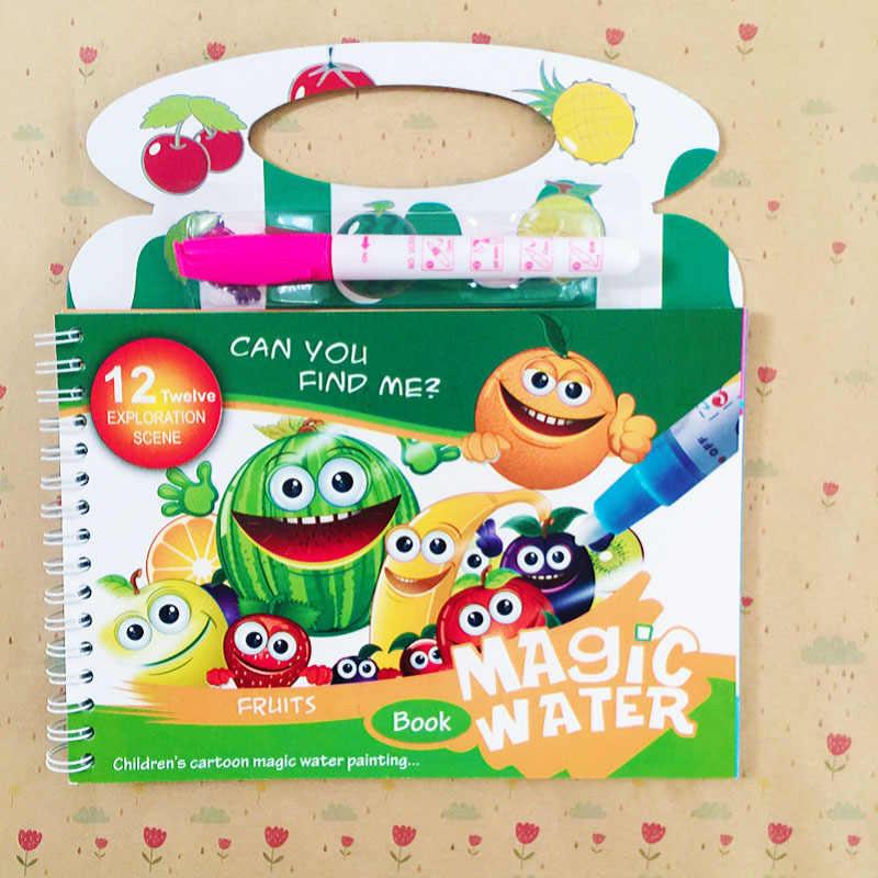 Fai Da Te Magic Water Book Frutta Anguria Tavolo Da Disegno Per Bambini Libri Da Colorare Doodle Magic Pen Giocattoli Per Bambini Regalo Giocattoli Per Disegnare Aliexpress