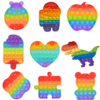 Autism Special Needs Sensory Anti-stress Relief Toy Kids Toys Bear Pineapple Rainbow Push Pops System Toy Bubble Fidget Toys