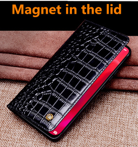 Image 4 - Luxury Business Magnetic Holder Genuine Real Leather Flip Case For Samsung Galaxy S10 Plus/Samsung Galaxy S10 5G Phone Case Capa