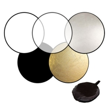 60cm 5 in 1 Photography Studio Light Mulit Photo Disc Collapsible Reflector Round Disk with Zipped Carrying Bag