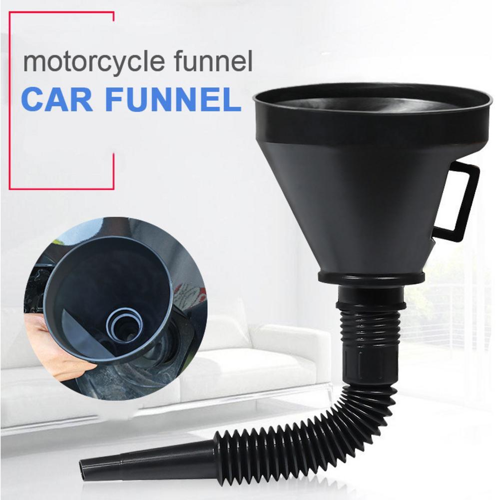 Multifunctional Plastic Funnel Oil Funnel With Flexible Extension Nozzle For Car Motorcycle Engine Oil Diesel Kerosene Funnel