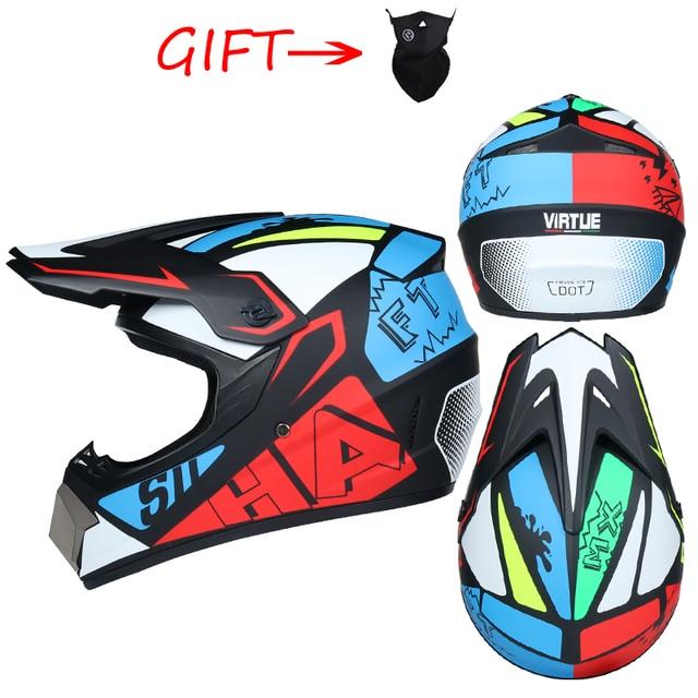 Off-road Motorcycle Helmet Casco Moto Full Face Motocross Helm Professional Motorbike ATV Downhill Racing Dirt Bike