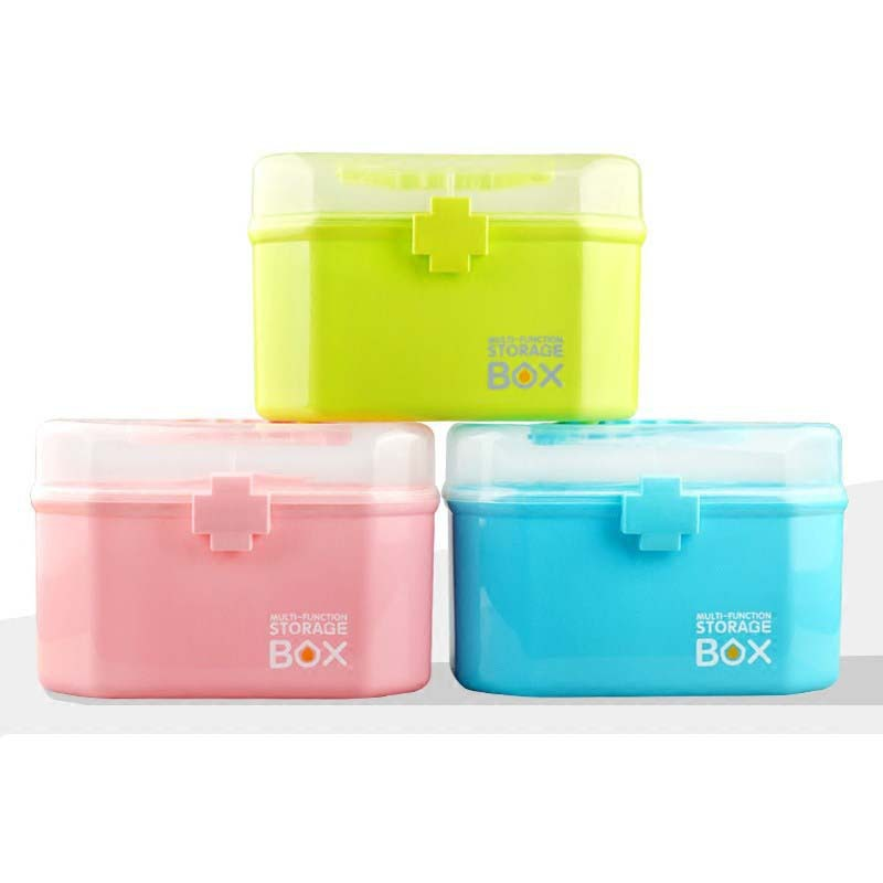 Home Large Hand Medicine Box Multi-Layered Child Medicine First Aid Kit Household Plastic Storage Cosmetic Case
