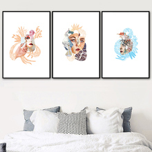 Abstract Retro Makeup Face Girl Figure Wall Art Canvas Painting Nordic Posters And Prints Wall Pictures For Living Room Decor abstract girl figure leaves flower boho wall art canvas painting nordic posters and prints wall pictures for living room decor