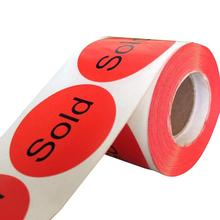 Chalkboard Labels  500 Stickers/LabelsSold Red Stickers Retail Sold (2 inch)