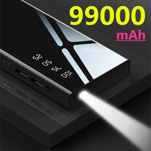 99000mAh szybkie ładowanie banku mocy PD 45W 50000 mAh Powerbank przenośna zewnętrzna ładowarka do iPhone Xiaomi Mi Huawei tanie tanio ALLPOWERS Bateria litowo-jonowa Wsparcie szybkie ładowanie Z latarką Podwójny USB 50001 mAh-100000 mAh Dla Laptop Do tabletu