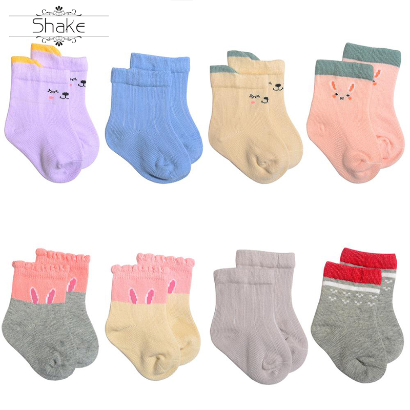 New-Born Baby Autumn And Winter Cartoon Boys And Girls Combed Cotton Crew Socks