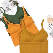 Women Bras Sports-Bra Padded Yoga-Top Fitness-Workout Shockproof Gym Athletic Breathable