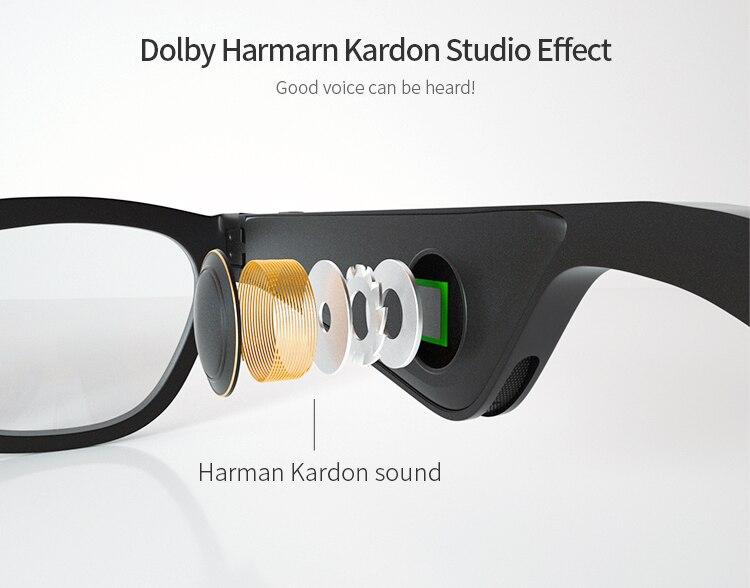 Bluetooth fone de ouvido toque óculos inteligentes