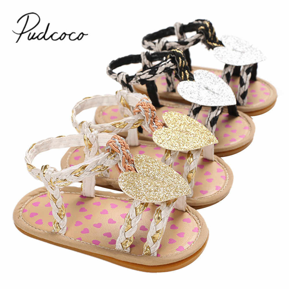 2020 Baby Shoes Newborn Infant Baby Girl Soft Sole Crib Shoes Pram Flower Summer Sandals Shoes