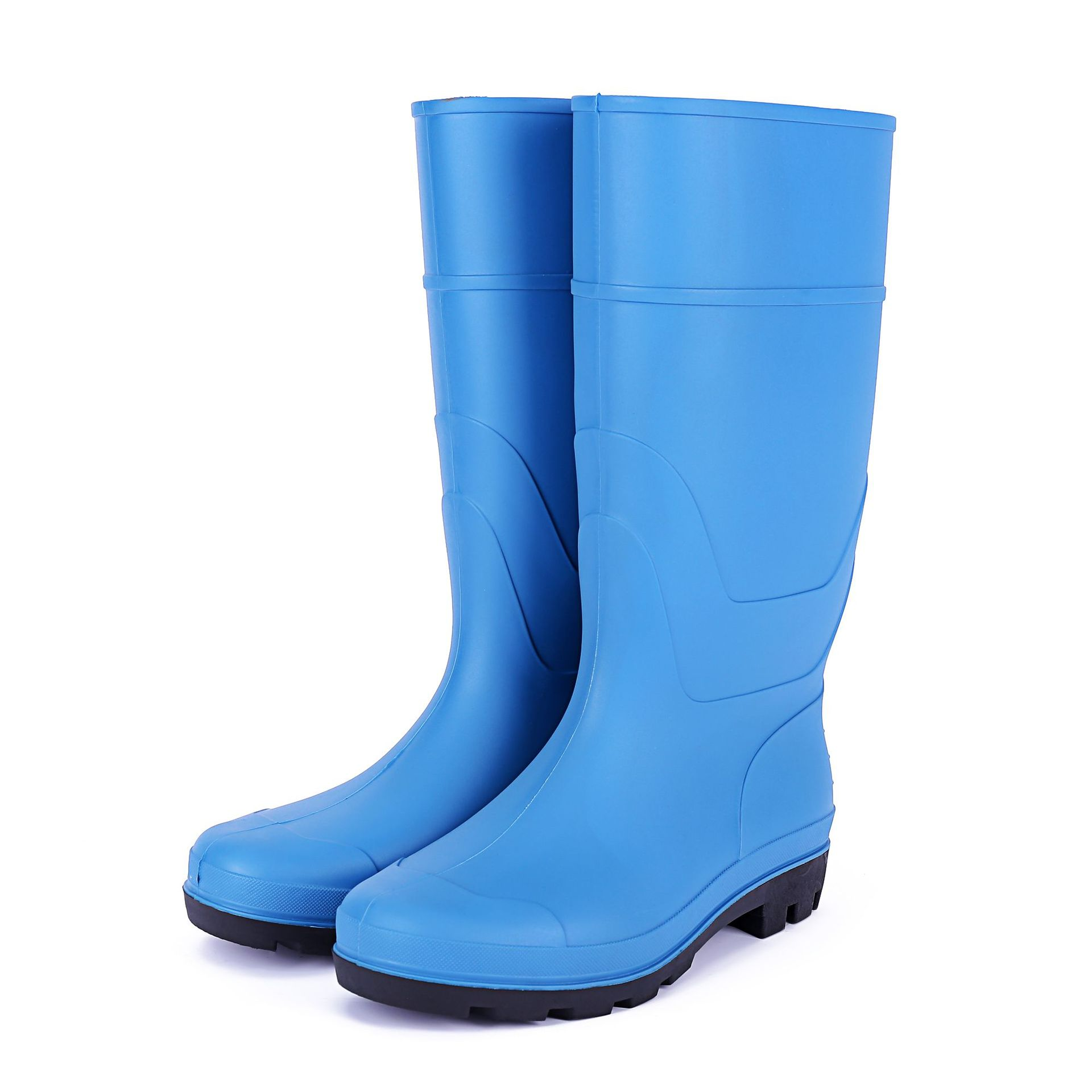 Steel Top Steel Insole Protection Boots Labor Safety Gong Kuang Xue PVC Anti-slip Wear-Resistant Rain Shoes Hight-top Waterproof