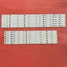 Striscia di Retroilluminazione A LED (12) Per Sharp LC 50LB371C 50LB481U 50PUT6400 50PFT4509 50PFH4009 500TT64 500TT63 LB50045 V0 V1 00 50PFH5300