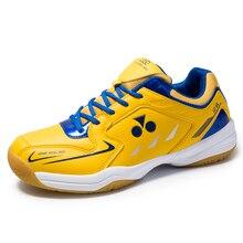 Профессиональная Обувь для бадминтона для мужчин и женщин; цвет красный, синий; нескользящая спортивная обувь для пар; удобная мужская теннисная обувь