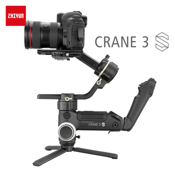 ZHIYUN Official Crane 3S-E/Crane 3S 3-Axis Handheld Gimbal Payload 6.5KG for Video Camera  DSLR Camera Stabilizer New Arrival handheld gimbal adapter switch mount plate for gopro 6 5 4 3 3 yi 4k camera for dji osmo for feiyu zhiyun smooth q gimbal