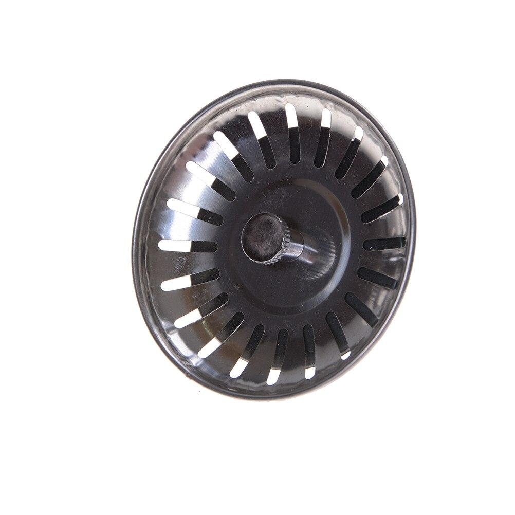 One Piece Stainless Steel Kitchen Sink Strainer Stopper Waste Plug Sink Filter Bathroom Basin Sink Drain 2