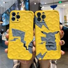 Pokemon pikachu caso de telefone para iphone 7plus 8 x xs max 11 pro max casos bonito desenhos animados capas de telefone macio silicone caso presentes