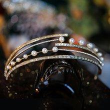 Модная Золотая свадебная тиара головная повязка с кристаллами