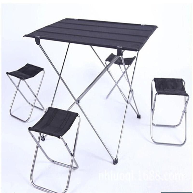Outdoor Camping Folding Table Garden Beach Picnic Aluminium Alloy Foldable Picnic Table Outdoor Portable Ultralight
