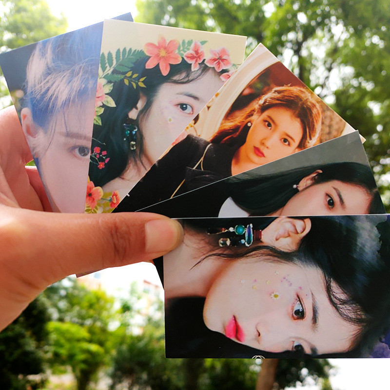 KPOP IU 5PCS/SET LOMO Card New Album Love Poem Photo card Fans Collection 9*5.4cm jh554(China)