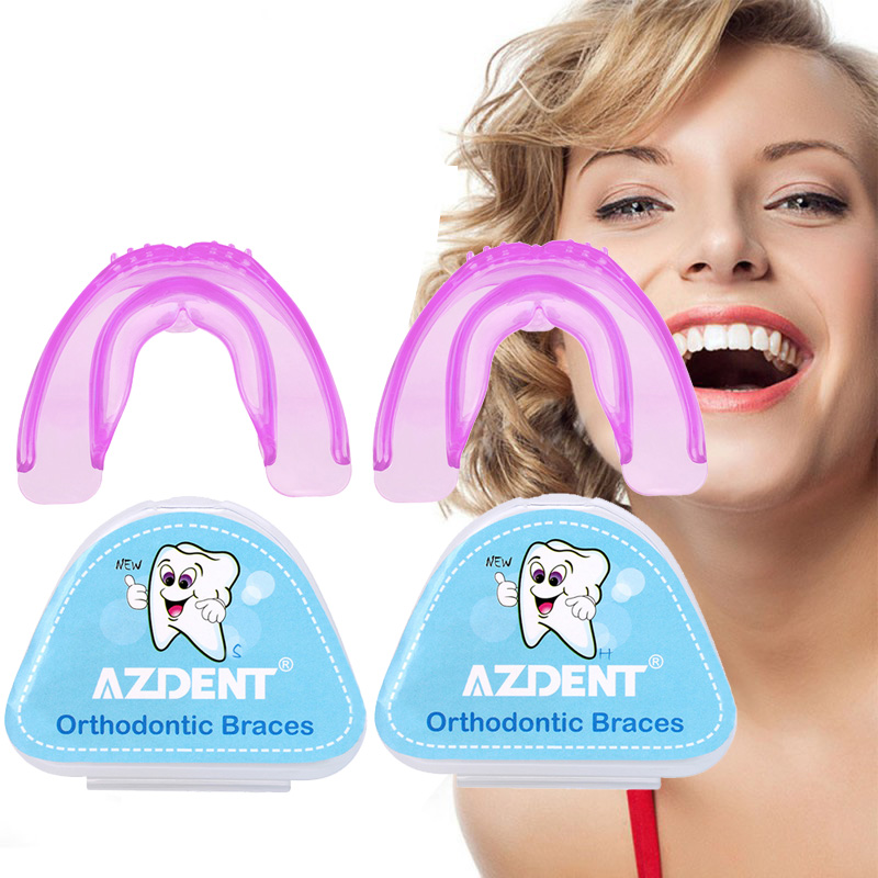 Orthodontic Braces Dental Brace Silicone Teeth Alignment Trainer Teeth Retainer Bruxism Dentures Mouth Guard Night Appliances
