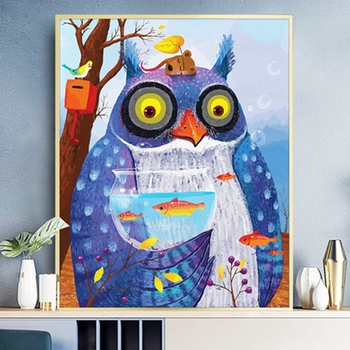 Owl Animals DIY Acrylic oil Painting By Numbers for kids adults Canvas diy Picture Living Room wall art