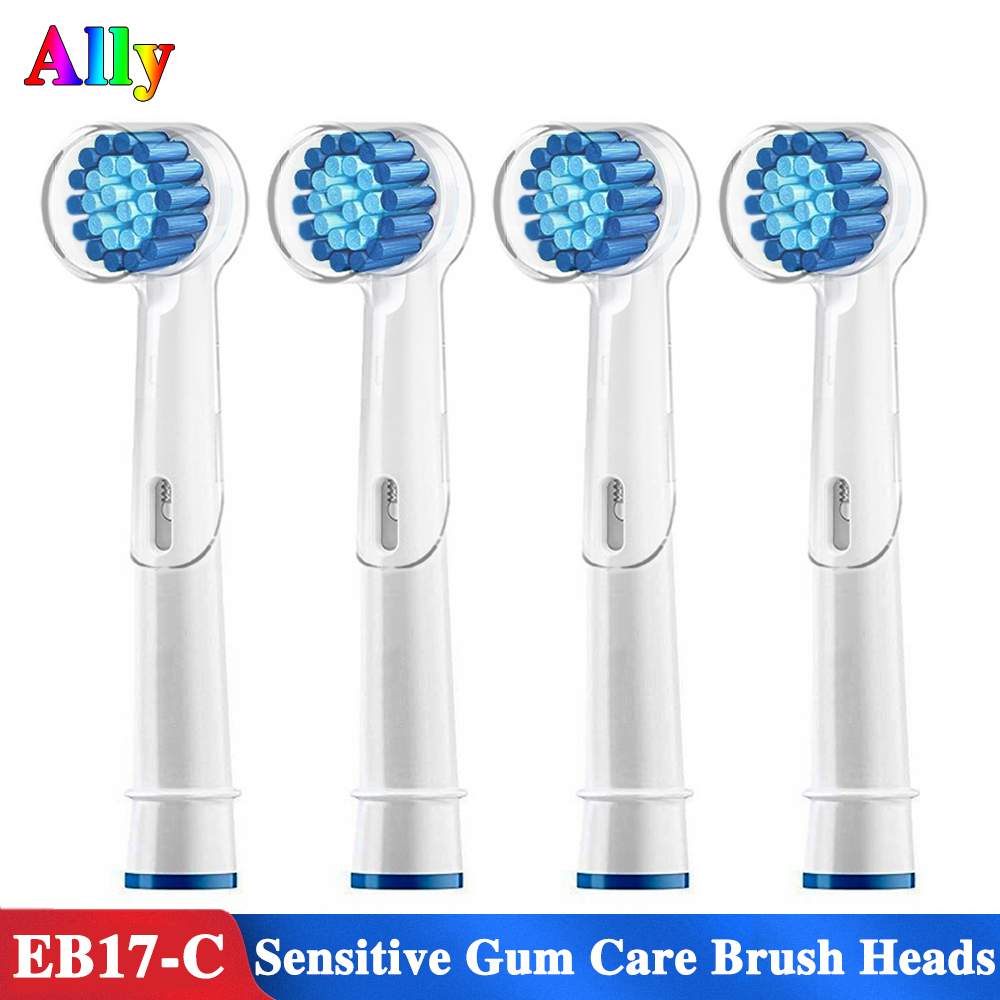 4PCS EB17 Electric Toothbrush heads Replacement Brush Heads For Braun Oral B Vitality Triumph Pro 500 550 600 Toothbrush heads image